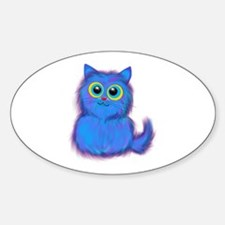 blue kitty Decal