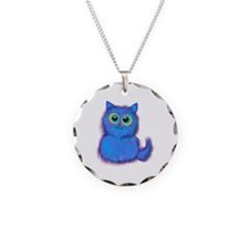 blue kitty Necklace