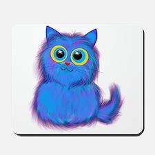 blue kitty Mousepad
