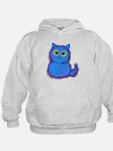 blue kitty Hoodie