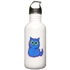 blue kitty Water Bottle