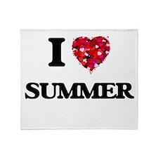 I love Summer Throw Blanket