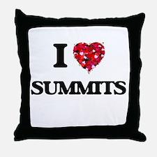 I love Summits Throw Pillow