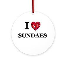 I love Sundaes Ornament (Round)