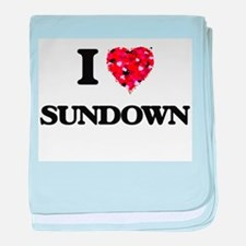 I love Sundown baby blanket