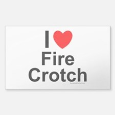 Fire Crotch Decal