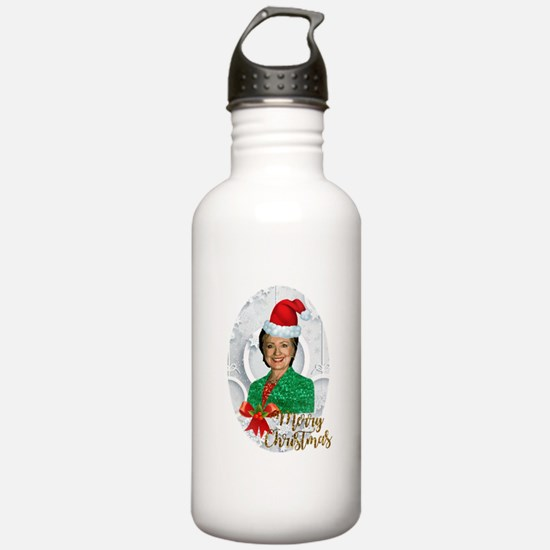 merry xmas Hillary cli Water Bottle