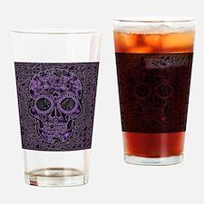 Funny Purple skull Drinking Glass