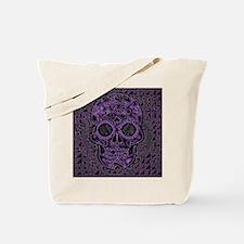 Cute Purple skull Tote Bag