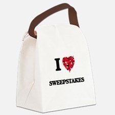 I love Sweepstakes Canvas Lunch Bag