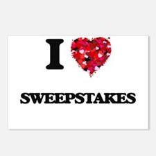I love Sweepstakes Postcards (Package of 8)