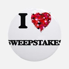 I love Sweepstakes Ornament (Round)