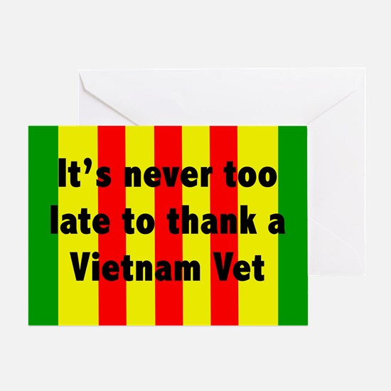 Thank a Vet Greeting Card