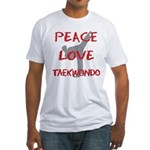 Peace Love Taekwondo Fitted T-Shirt