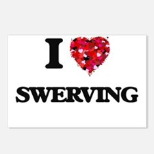 I love Swerving Postcards (Package of 8)