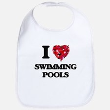 I love Swimming Pools Bib