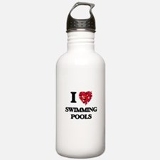 I love Swimming Pools Water Bottle