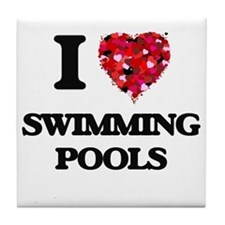 I love Swimming Pools Tile Coaster