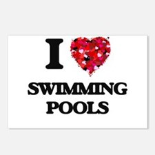 I love Swimming Pools Postcards (Package of 8)