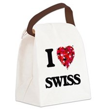 I love Swiss Canvas Lunch Bag