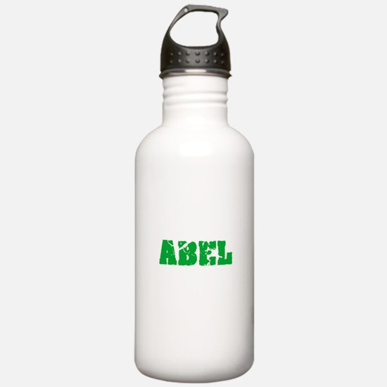 Abel Name Weathered Gr Sports Water Bottle