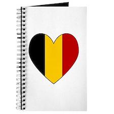 Belgian Flag Heart Journal