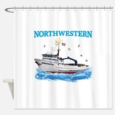 F/v Northwestern Color Shower Curtain