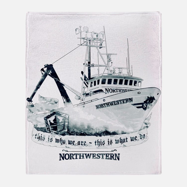 F/v Northwestern Reversible Throw Blanket