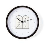 Ten Commandments [Decalogue] Wall Clock
