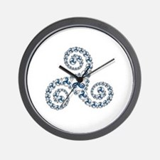 Triskel Boules incrust 6 Wall Clock