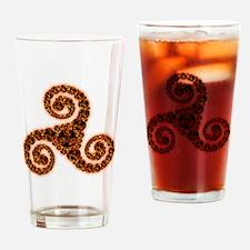Fire Triskel Drinking Glass