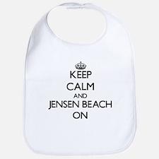 Keep calm and Jensen Beach Florida ON Bib