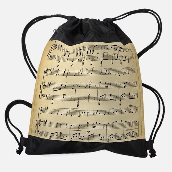 Antique Sheet Music Drawstring Bag