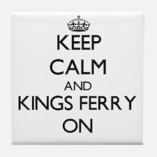 Keep calm and Kings Ferry Georgia ON Tile Coaster