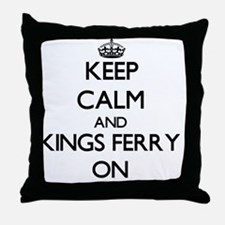 Keep calm and Kings Ferry Georgia ON Throw Pillow