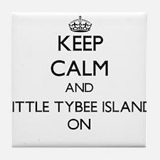 Keep calm and Little Tybee Island Geo Tile Coaster