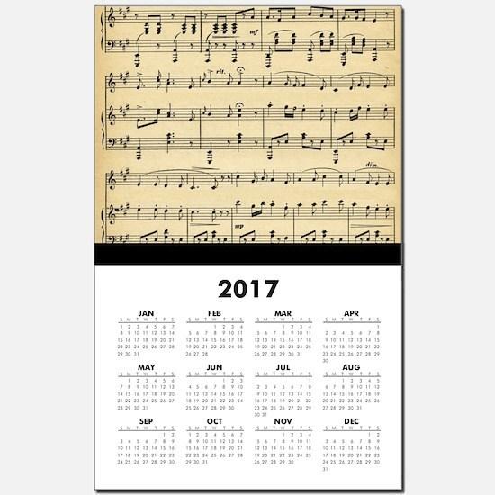 Antique Sheet Music Calendar Print