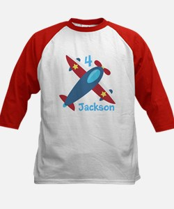 Airplane Birthday Kids Baseball Jersey