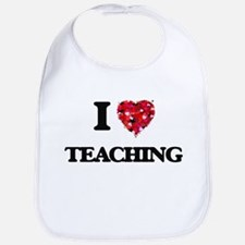 I Love Teaching Bib