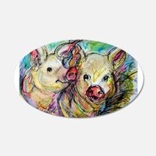piglets, pig pair Wall Decal