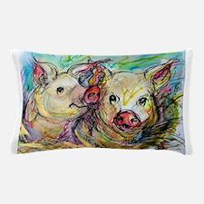 piglets, pig pair Pillow Case