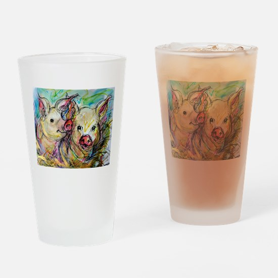 piglets, pig pair Drinking Glass