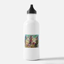piglets, pig pair Water Bottle