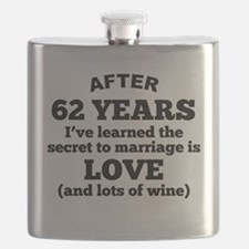 62 Years Of Love And Wine Flask