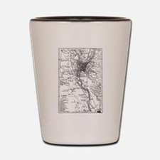 Vintage Map of Cairo Egypt (1911) Shot Glass