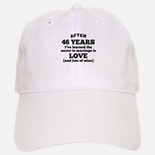 46 Years Of Love And Wine Baseball Baseball Baseball Cap