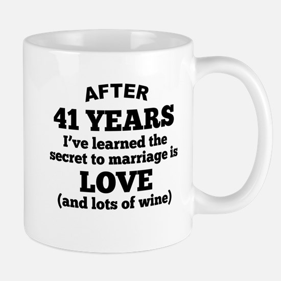 41 Years Of Love And Wine Mugs