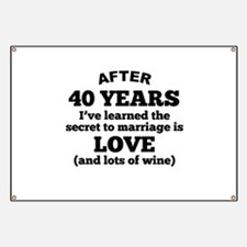 40 Years Of Love And Wine Banner