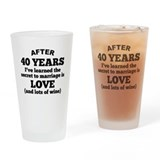 40th anniversary wine Pint Glasses