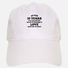 35 Years Of Love And Wine Baseball Baseball Baseball Cap